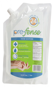 Prefense Hand Sanitizer Dispenser Refill, Scented